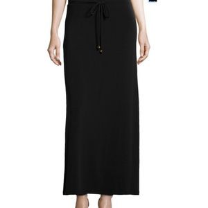 NWT Michael Kors Plus Size Long Black Maxi Skirt